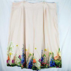 ASOS Curve Floral Wide Leg Crop Pants 24 NWT
